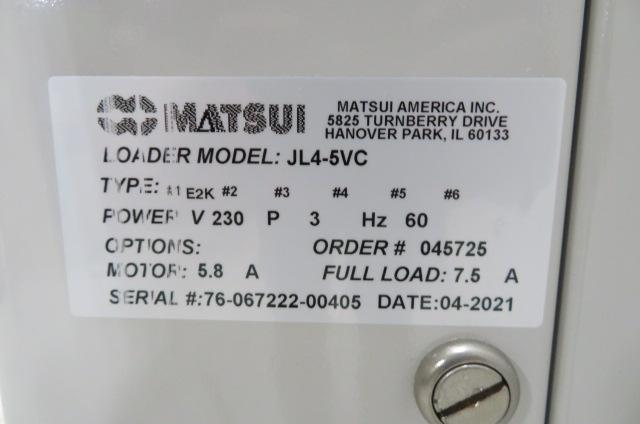Matsui Used JL4-5VC Material Jet Loader, 2hp, 230V, Yr. 2021