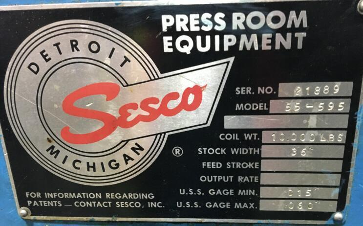 "10000 LB x 36"" Sesco Powered Uncoiler"