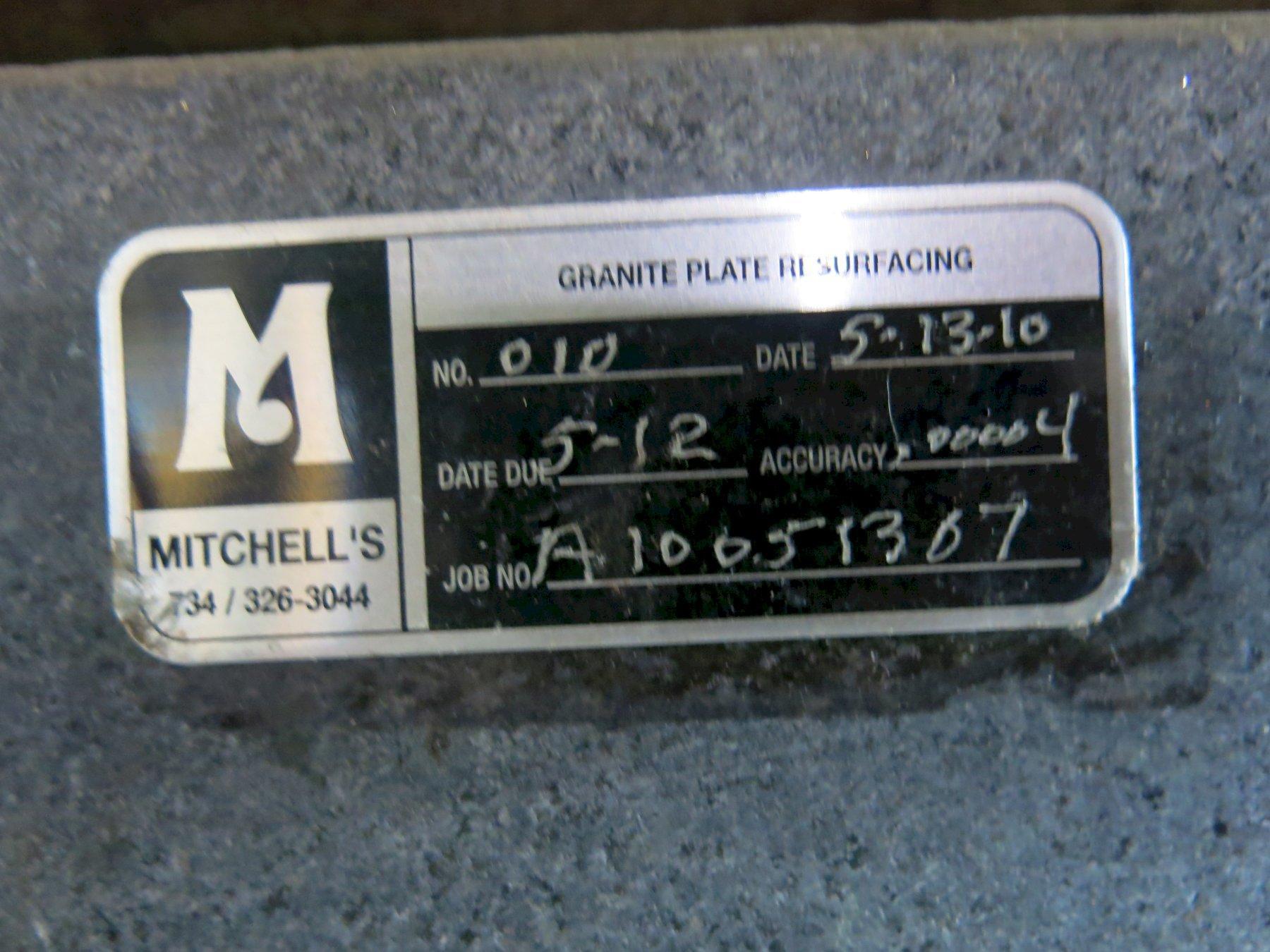 "Mitchell's 24"" x 36"" x 5"" Black Granite Surface Plate"