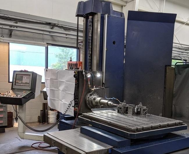 """3.93"""" TOS VARNSDORF, Model WH-10CNC, Heidenhain CNC Control, 44"""" x 40"""" Power Rotary Table, Travels (X/Y/W/Z)=49""""/44""""/37""""/24"""", 26 HP Spindle, 1,800 Max RPM, New 1997."""