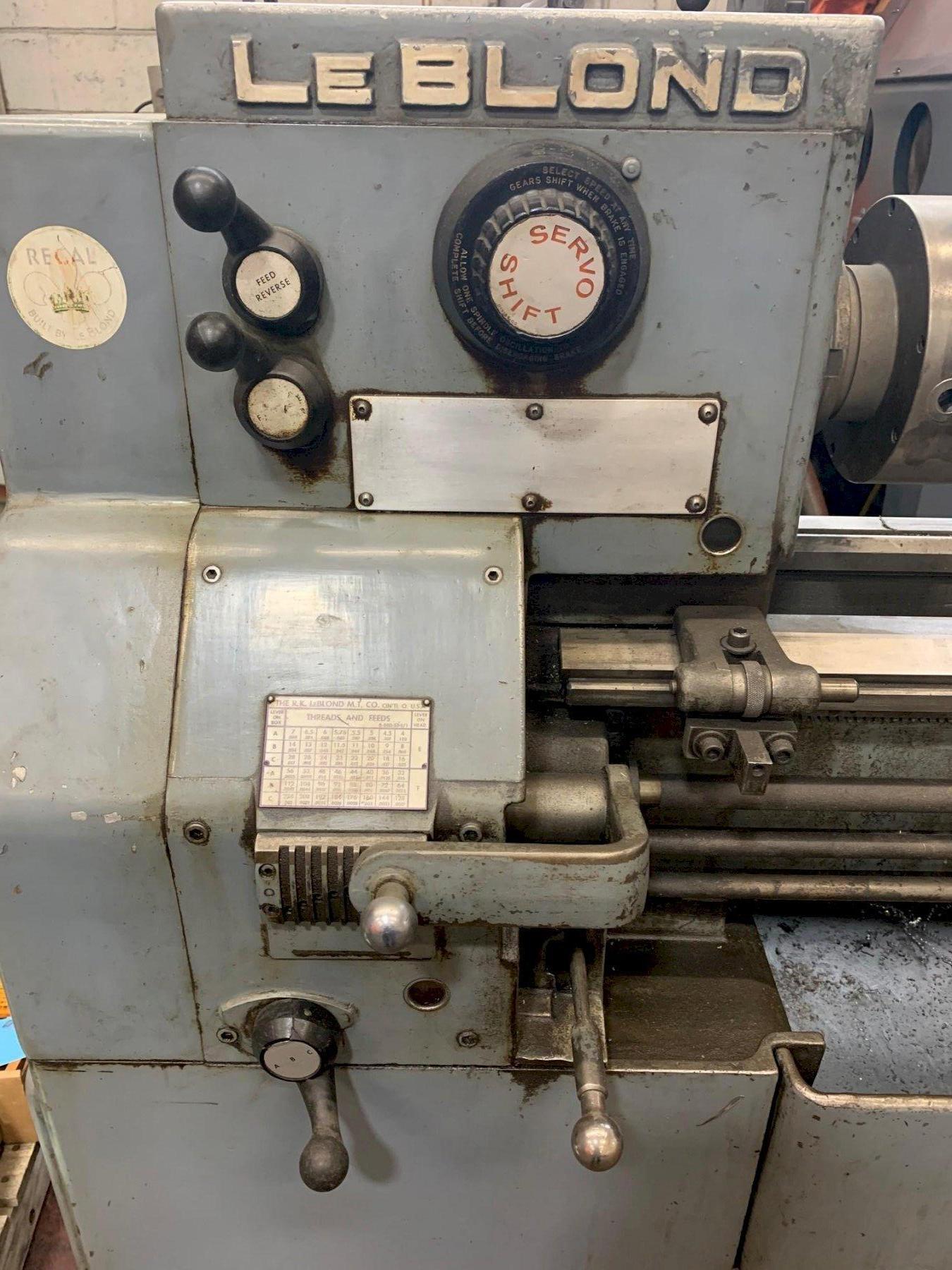 """USED LEBLOND SERVO SHIFT 15"""" X 30"""" ENGINE LATHE, Year 1963, Stock # 10819"""