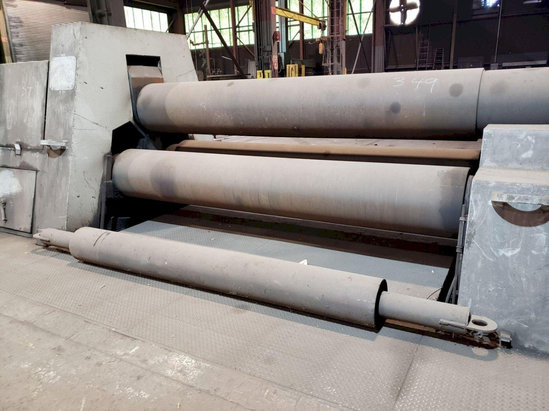 "10' X 1.5"" SERTOM RIMI 3016 3 ROLL HYDRAULIC DOUBLE INITIAL PINCH PLATE ROLL. STOCK # 1058920"
