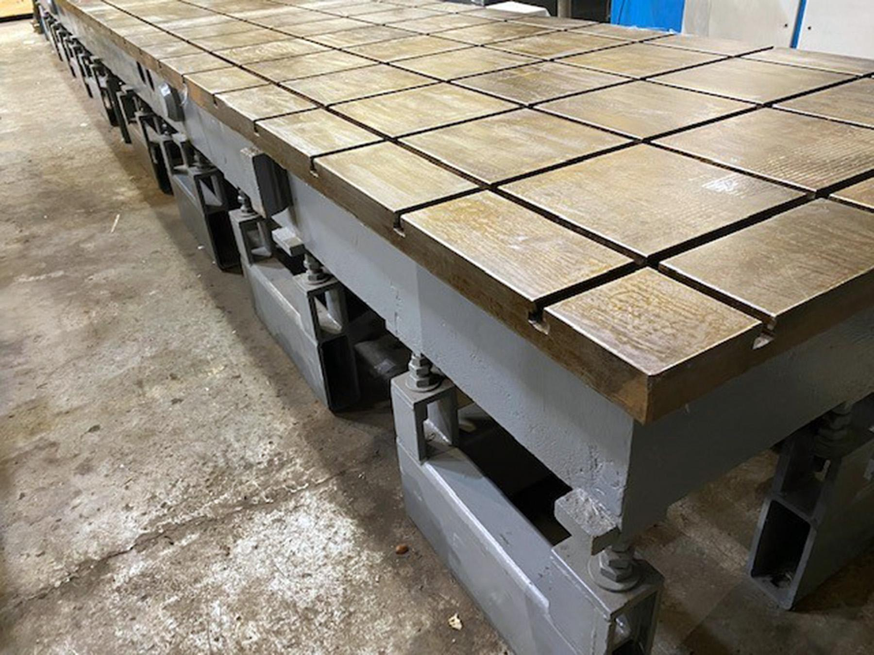 "USED, 48"" X 360"" T-SLOTTED PRECISION CAST IRON LASER CALIBRATION DUTY LAYOUT TABLE"