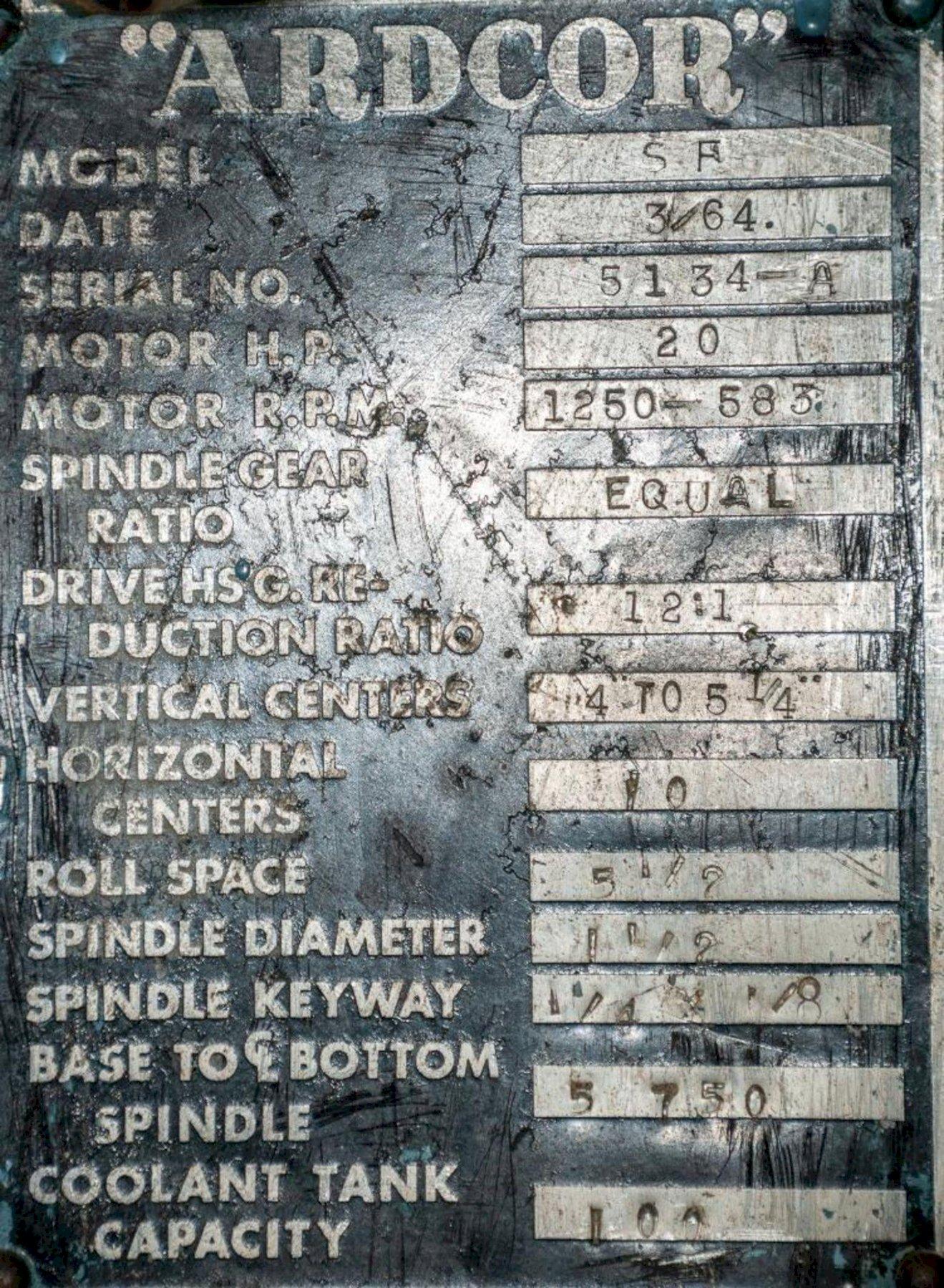 "12 STAND X 1.5"" ARDCOR MODEL F ROLLFORMER: STOCK #15342"