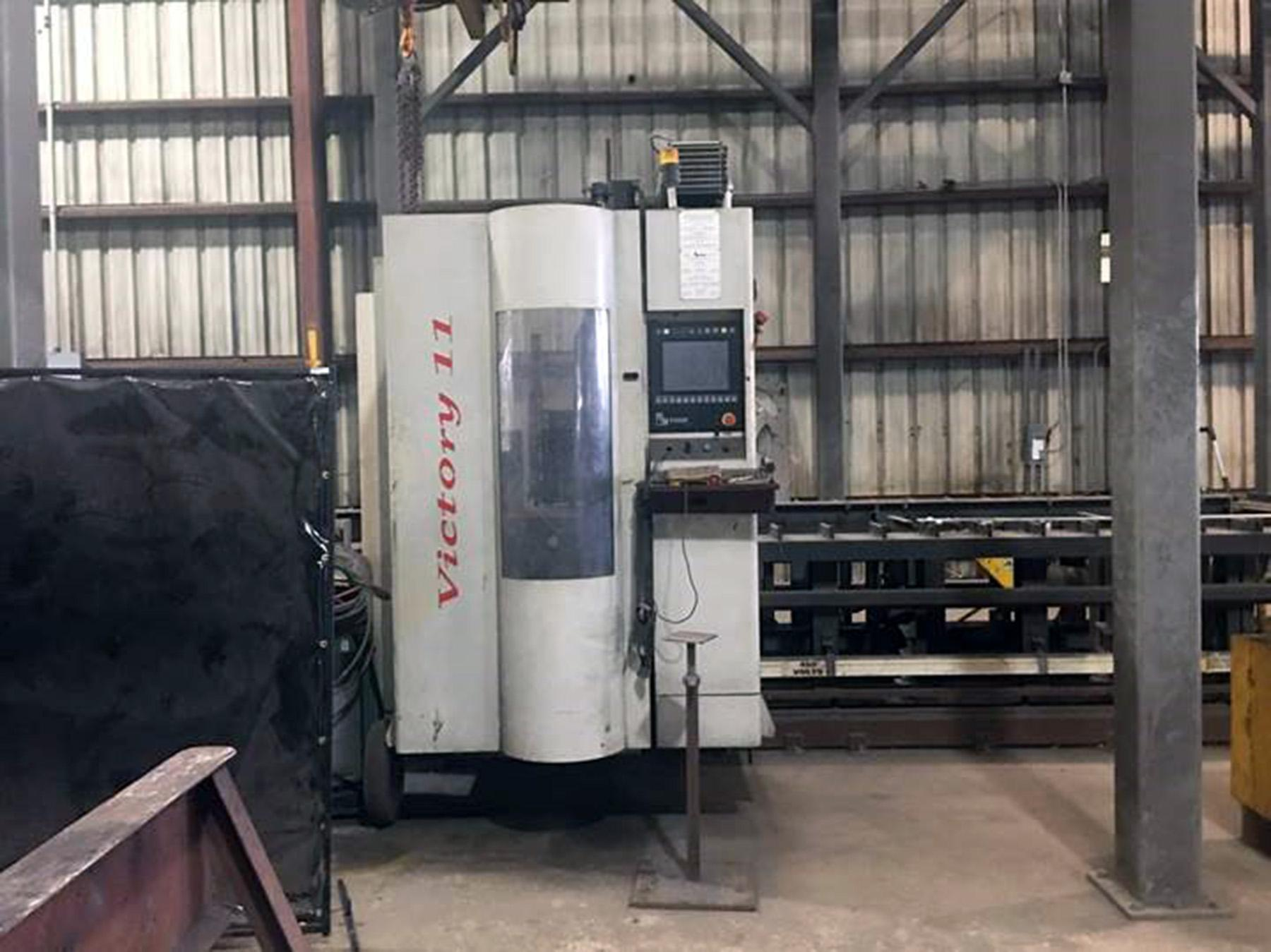 USED, FICEP VICTORY II CNC SINGLE SPINDLE BEAM DRILL LINE