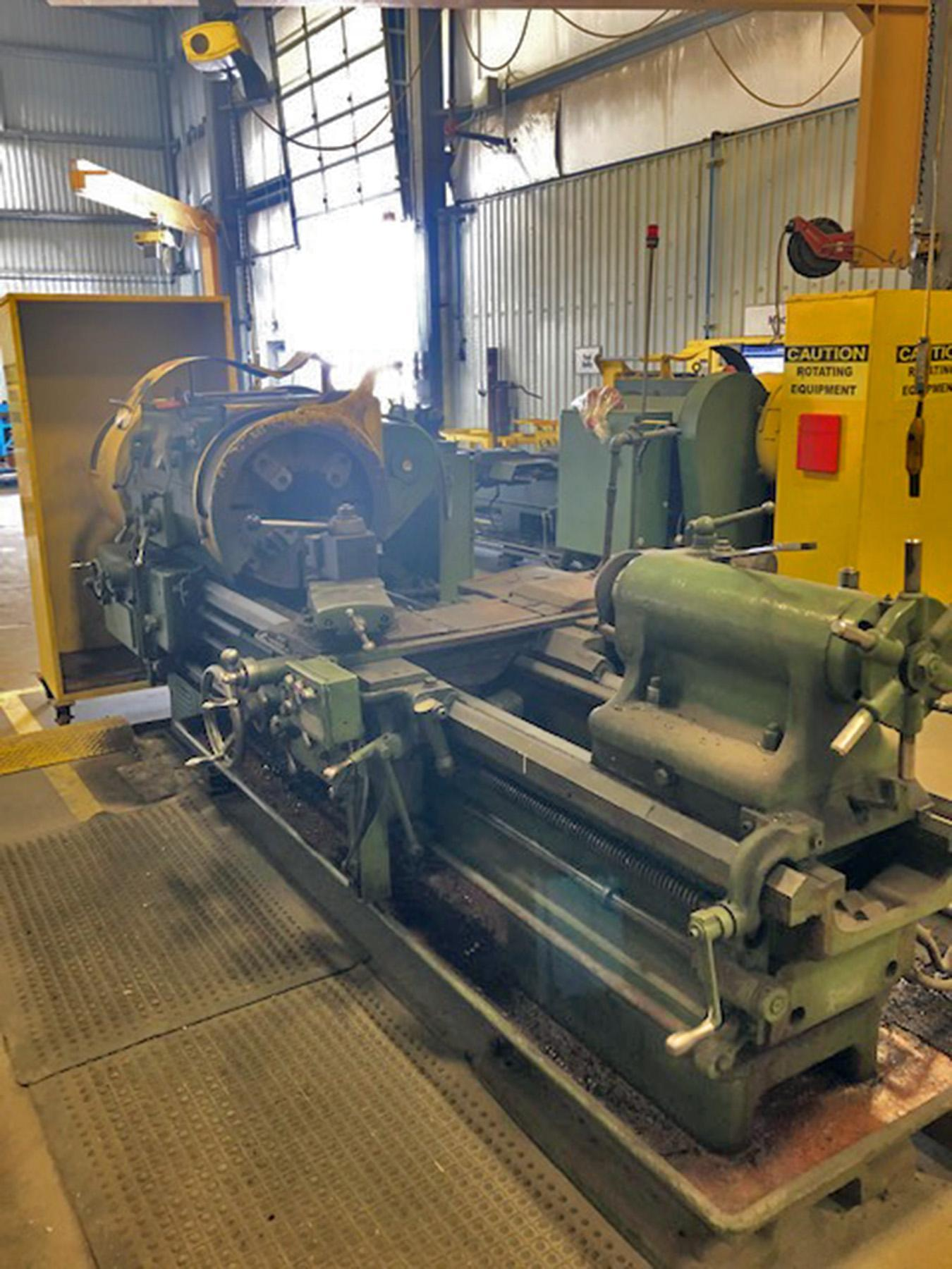 "USED, 27"" X 80"" LEHMANN HOLLOW SPINDLE LATHE WITH 9"" SPINDLE BORE"
