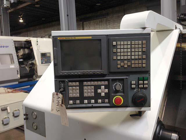 """CINCINNATI HAWK 250 HTC-250, Fanuc 21i CNC Control, Royal 3"""" Capacity Power Collet Chuck, 20"""" Swing over Bed, 13.7"""" Swing Over Carriage, 27"""" Max Turning Length, Programmable Tailstock, New 2006."""