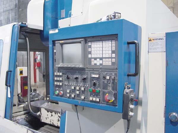 "JOHNFORD SV32 APC 2-Pallet, Fanuc 18M CNC Control, (2) 17.7"" x 38"" Pallets, X=31.5"", Y=20"", Z=24"", 8000 RPM, 24 Station Tool Changer, New 2001."