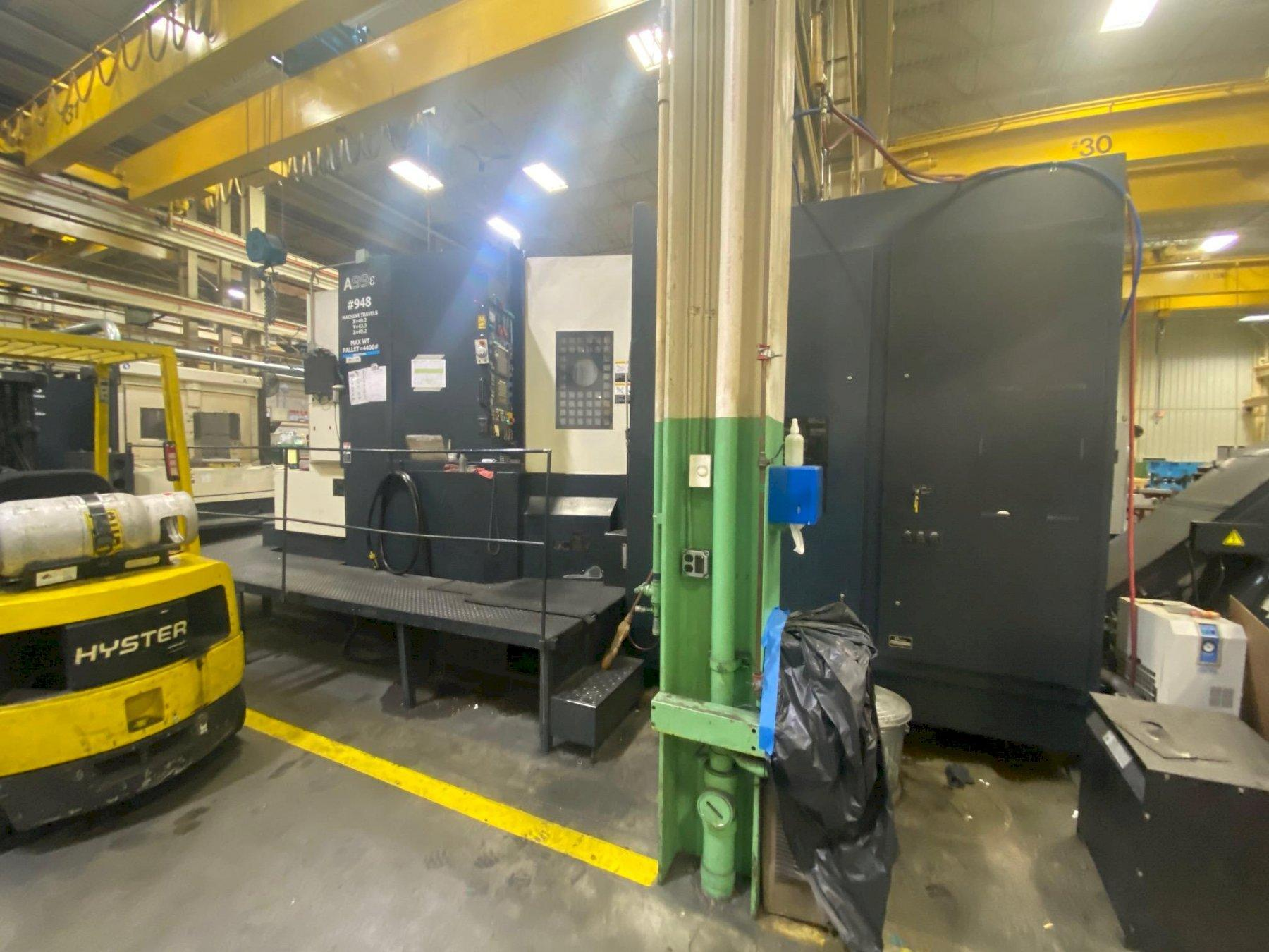 Makino A99E CNC Horizontal Machining Center, Fanuc Pro 3, 31.5