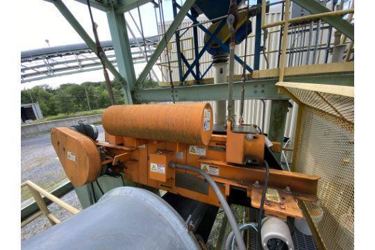 eriez cross belt magnetic conveyor with controls