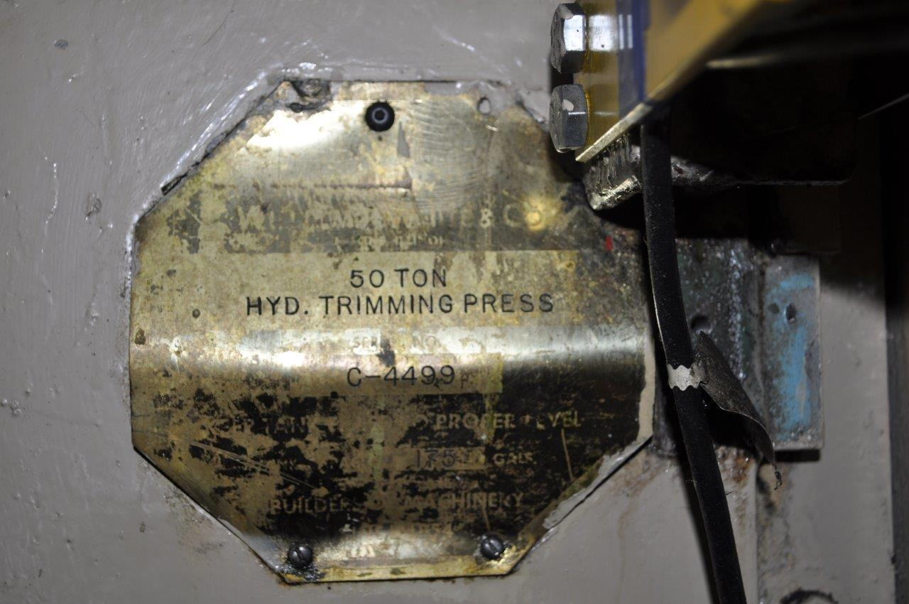 50 Ton Williams and White 4 Post Hydraulic Press