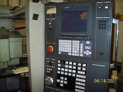 Hitachi Seiki Model HT23J CNC Turning Center w/LNS barfeed, New 1999.