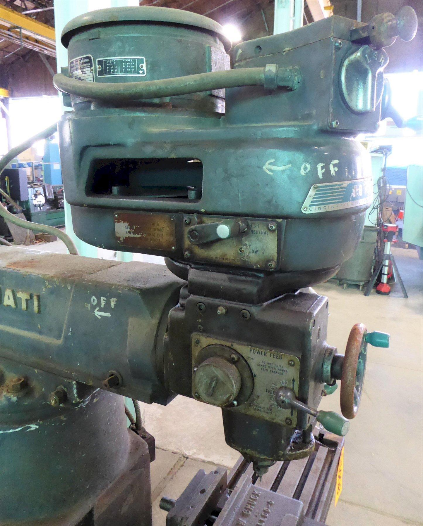 "Cincinnati Toolmaster Vertical Mill No. 1D, 10"" x 42"" P.F. Tbl., 85-3800 RPM,  2 HP, Low Price"