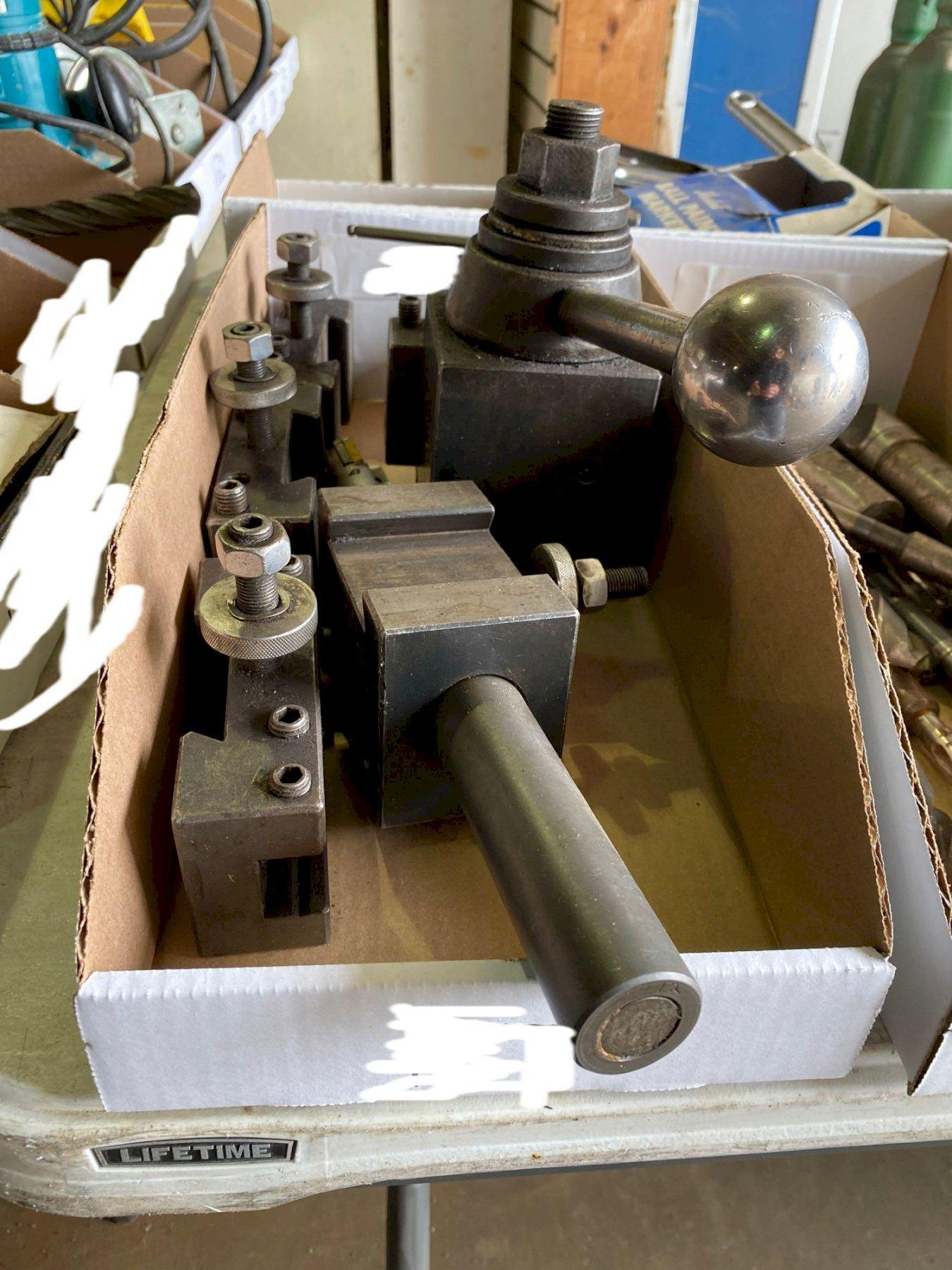 1 - PREOWNED TOOL POST, HOLDERS AND BORING BAR