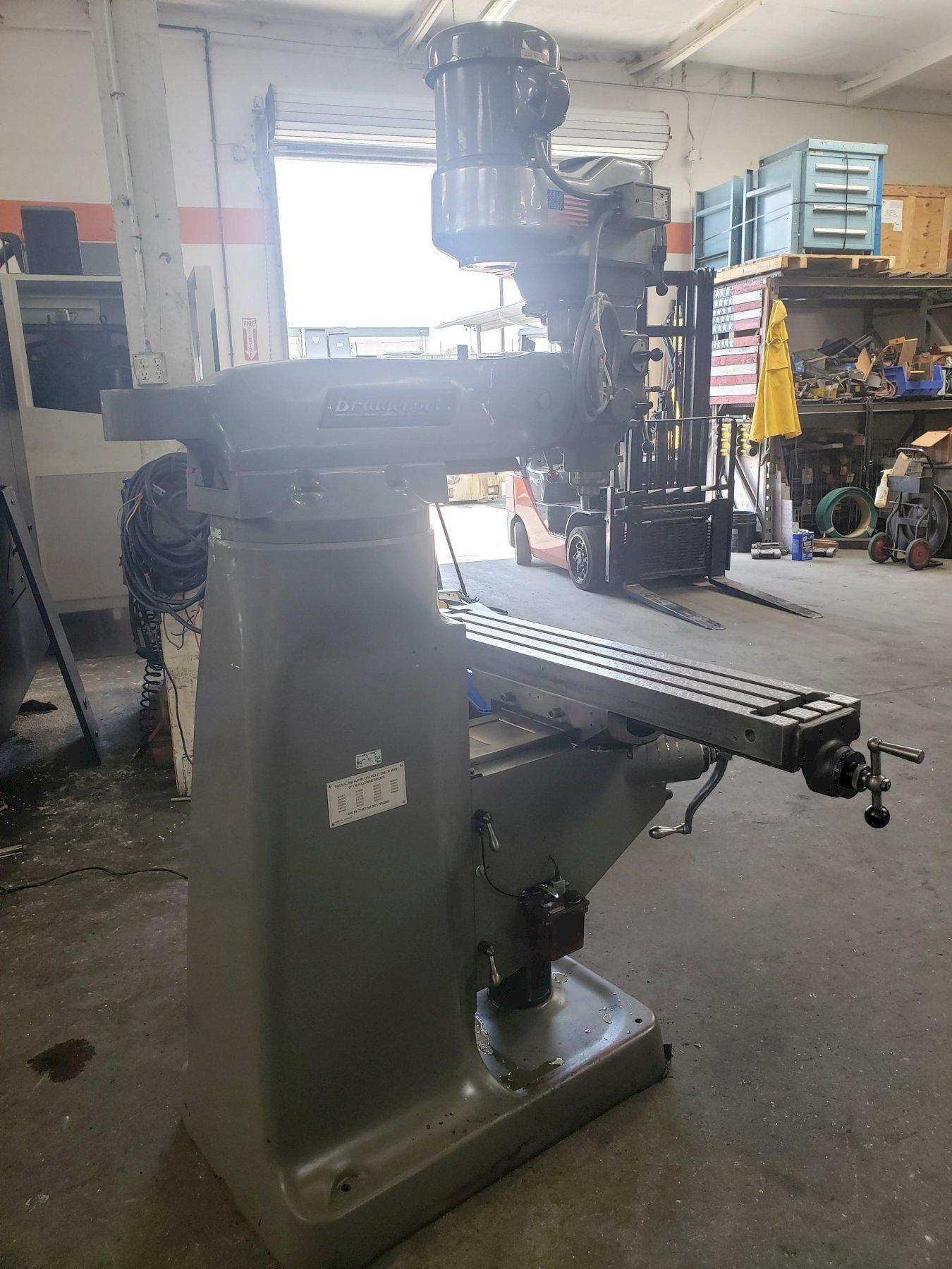 Bridgeport Series I Vertical Mill with: New Align Power Feed Table, Head Re-worked, Table Re-flaked, New X & Y Screws and Nuts, and One Shot Lube.