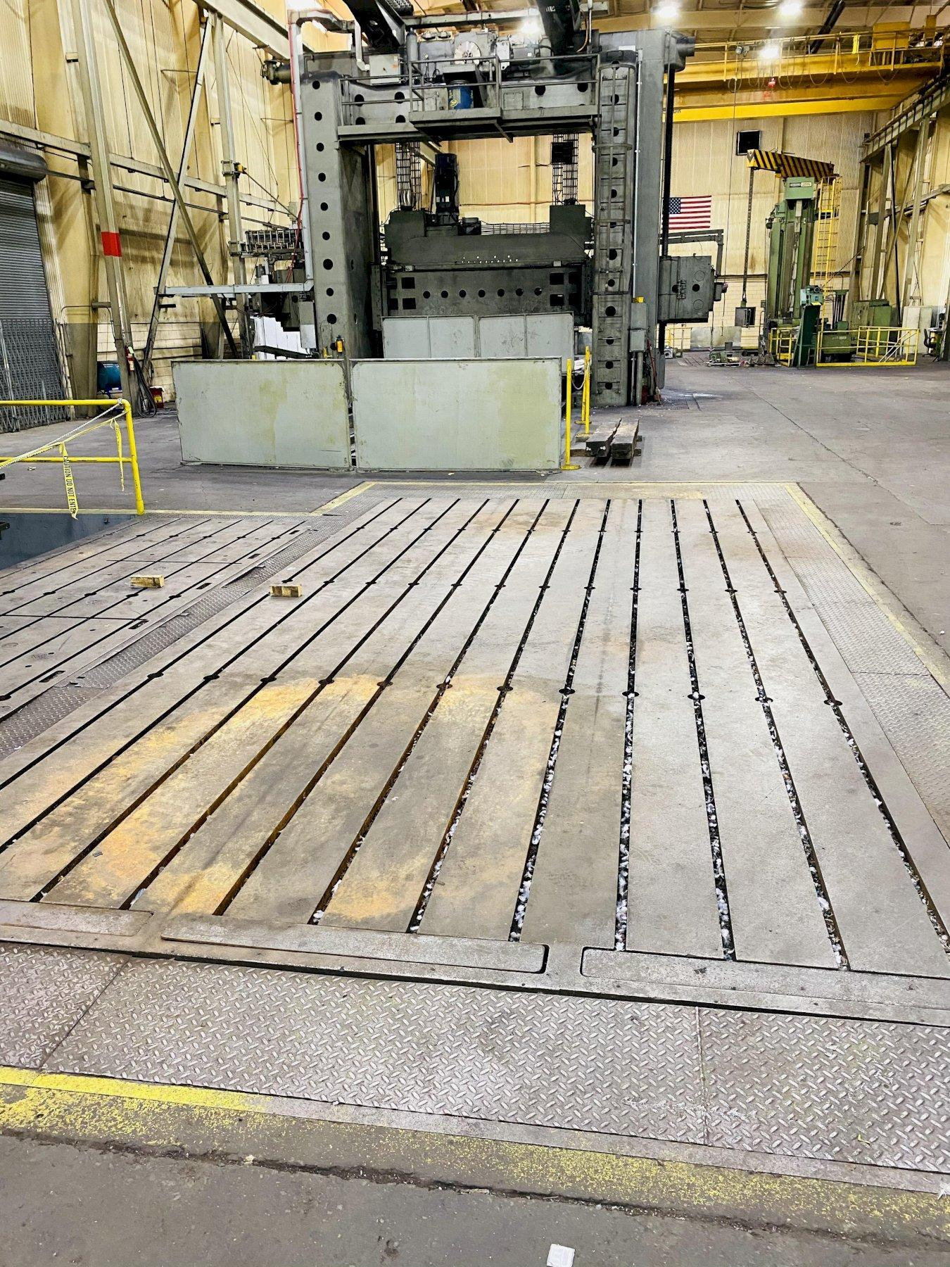 """144"""" X 288"""" X 14"""" GIDDINGS & LEWIS T-SLOTTED FLOOR PLATE. STOCK # 0310121"""