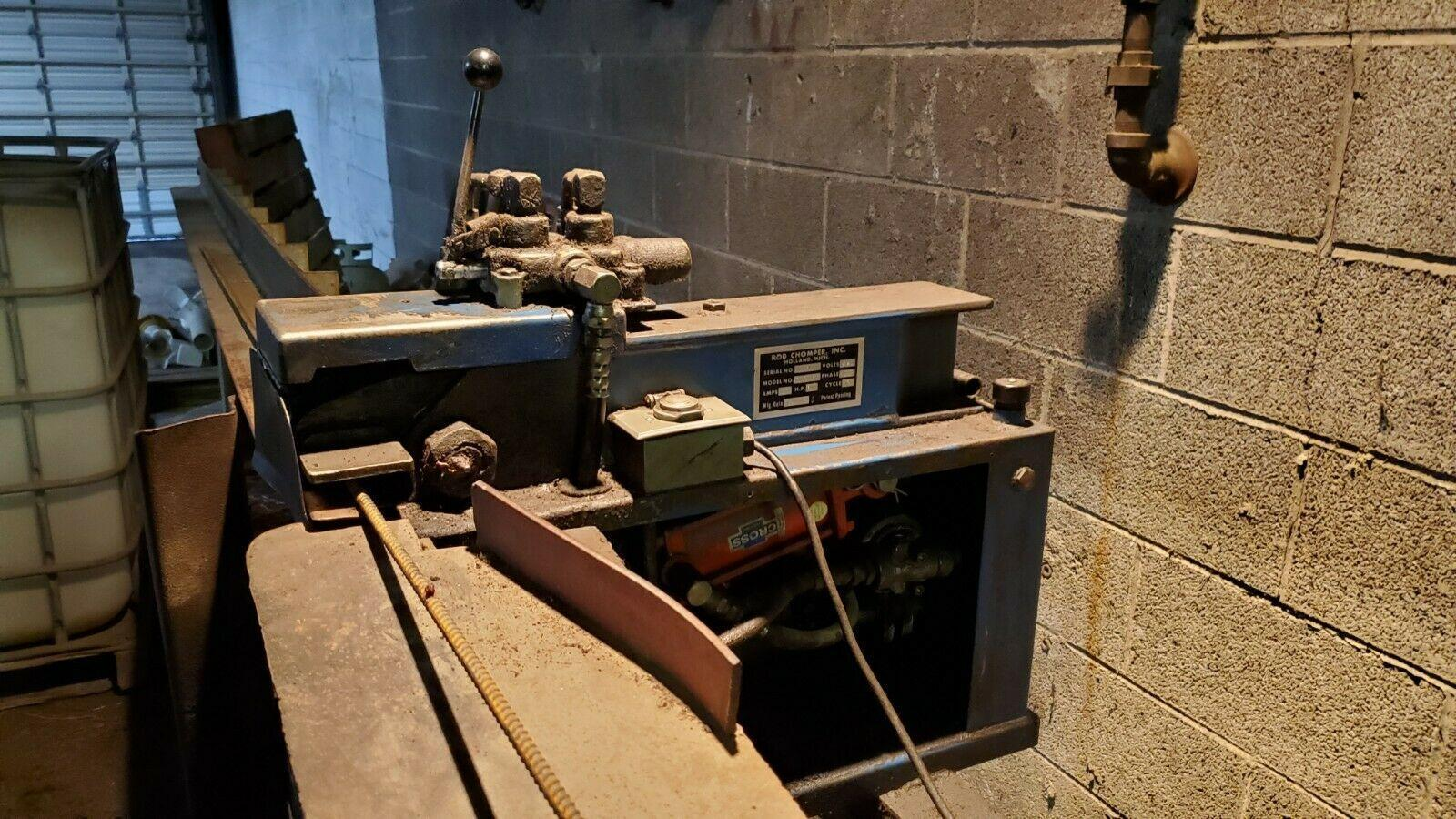 6 BAR ROD CHOMPER MODEL RCE-6 REBAR CUTTING MACHINE: STOCK #12710
