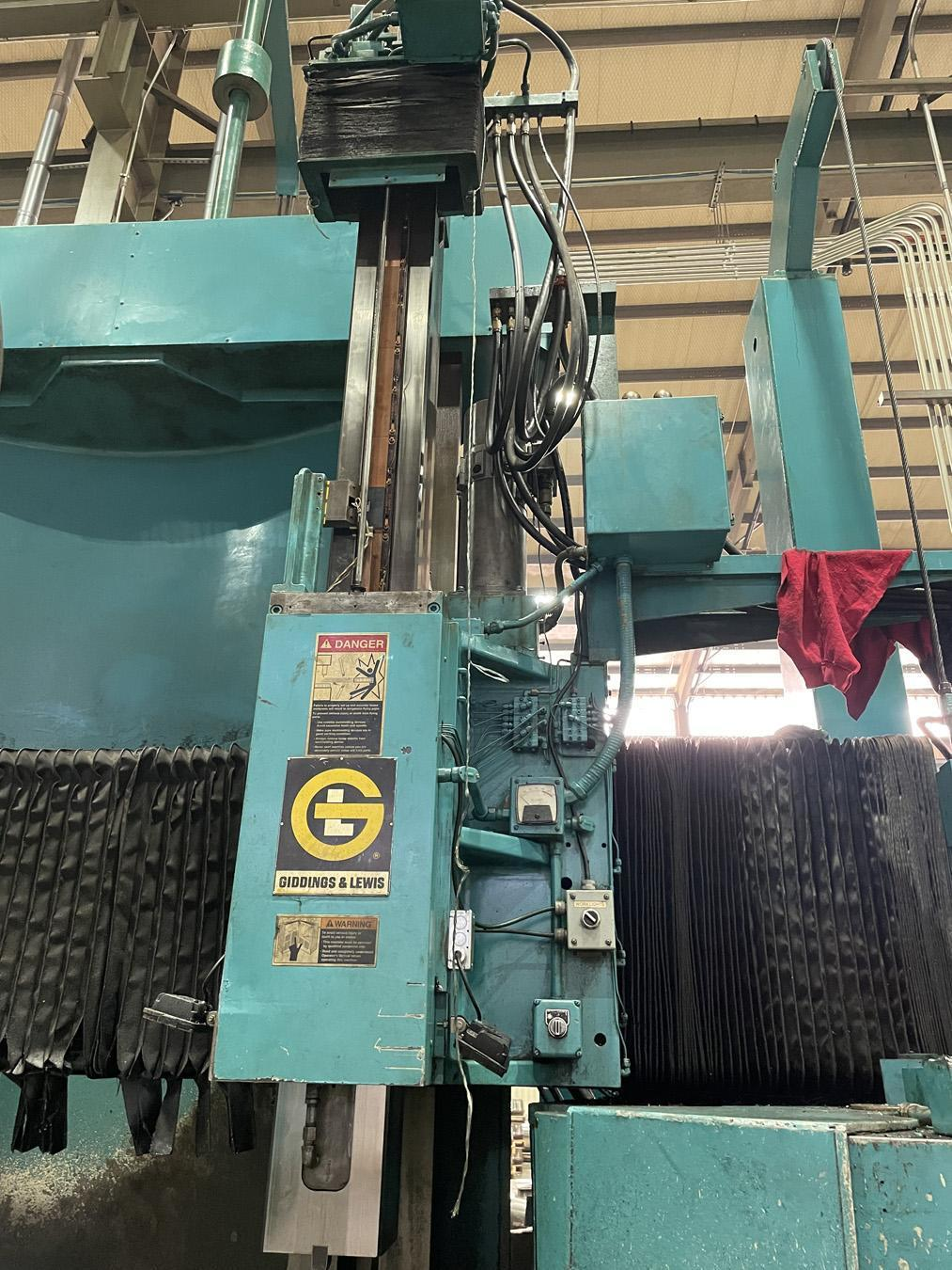 """USED, 60"""" GIDDINGS & LEWIS CNC VERTICAL TURNING CENTER"""