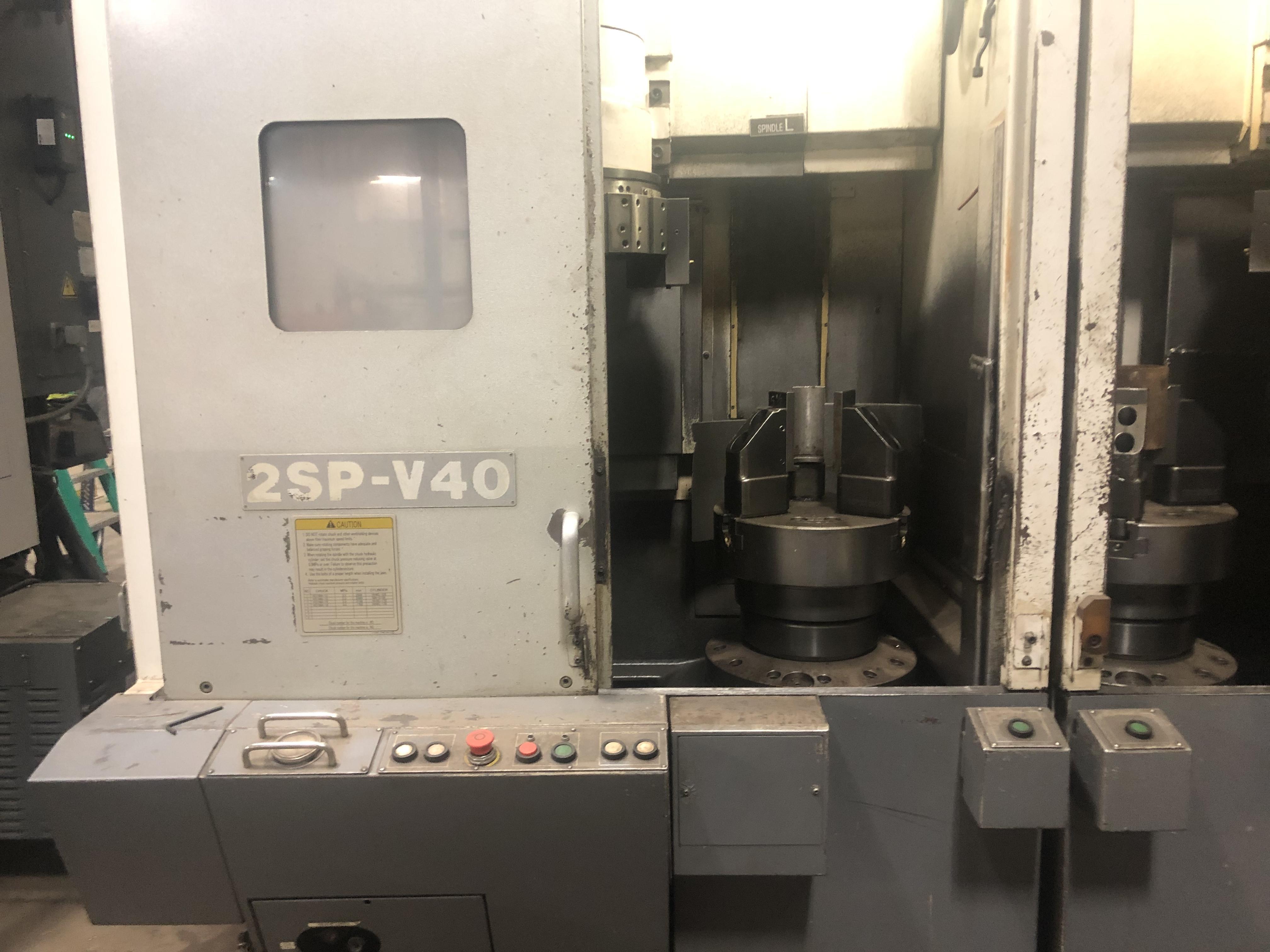 2012 Okuma 2SP-V40 - CNC Twin Spindle Vertical Turret Lathe