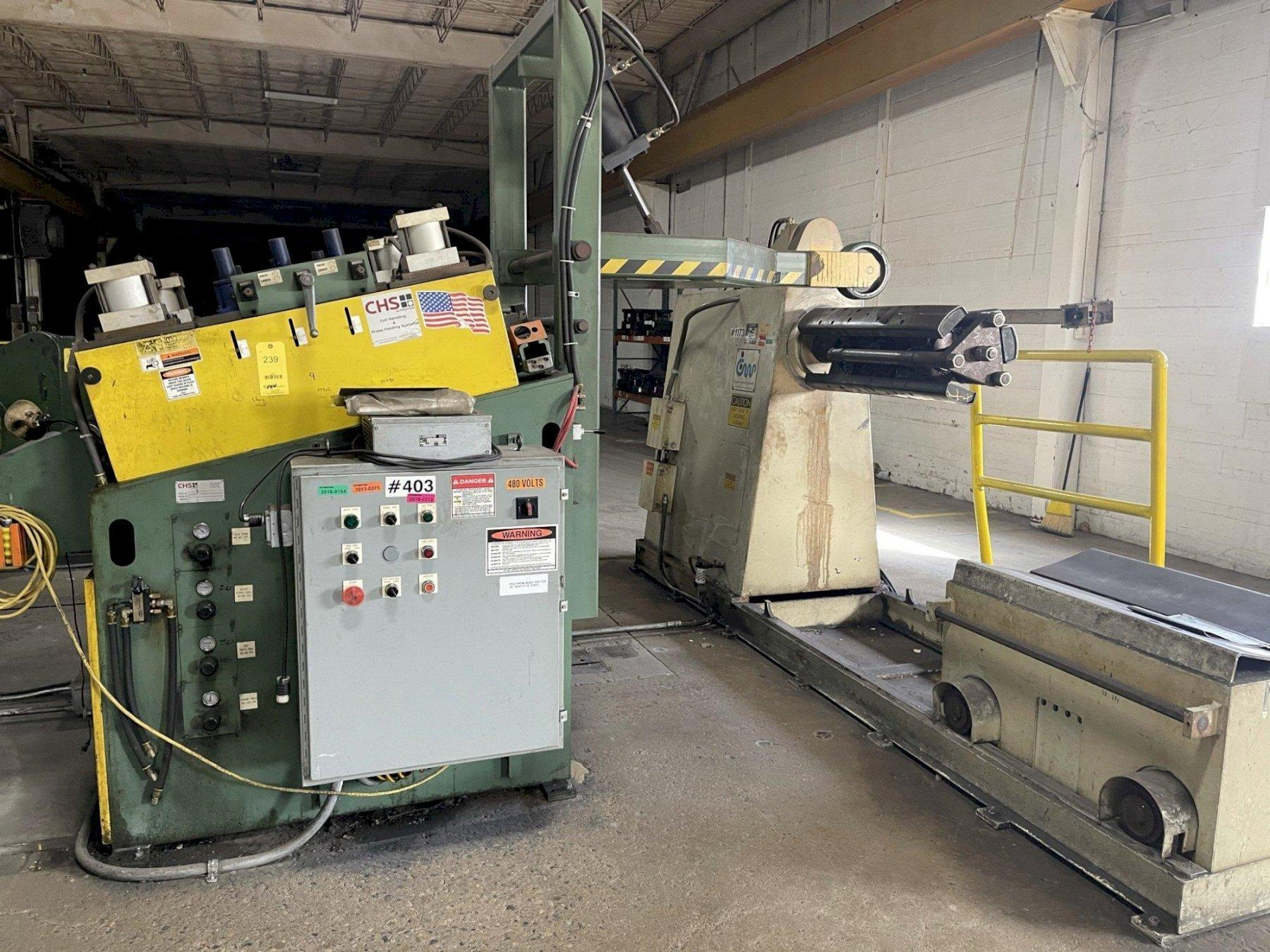 CHS / CWP Conventional Coil Feed Line 20,000 lb x 36