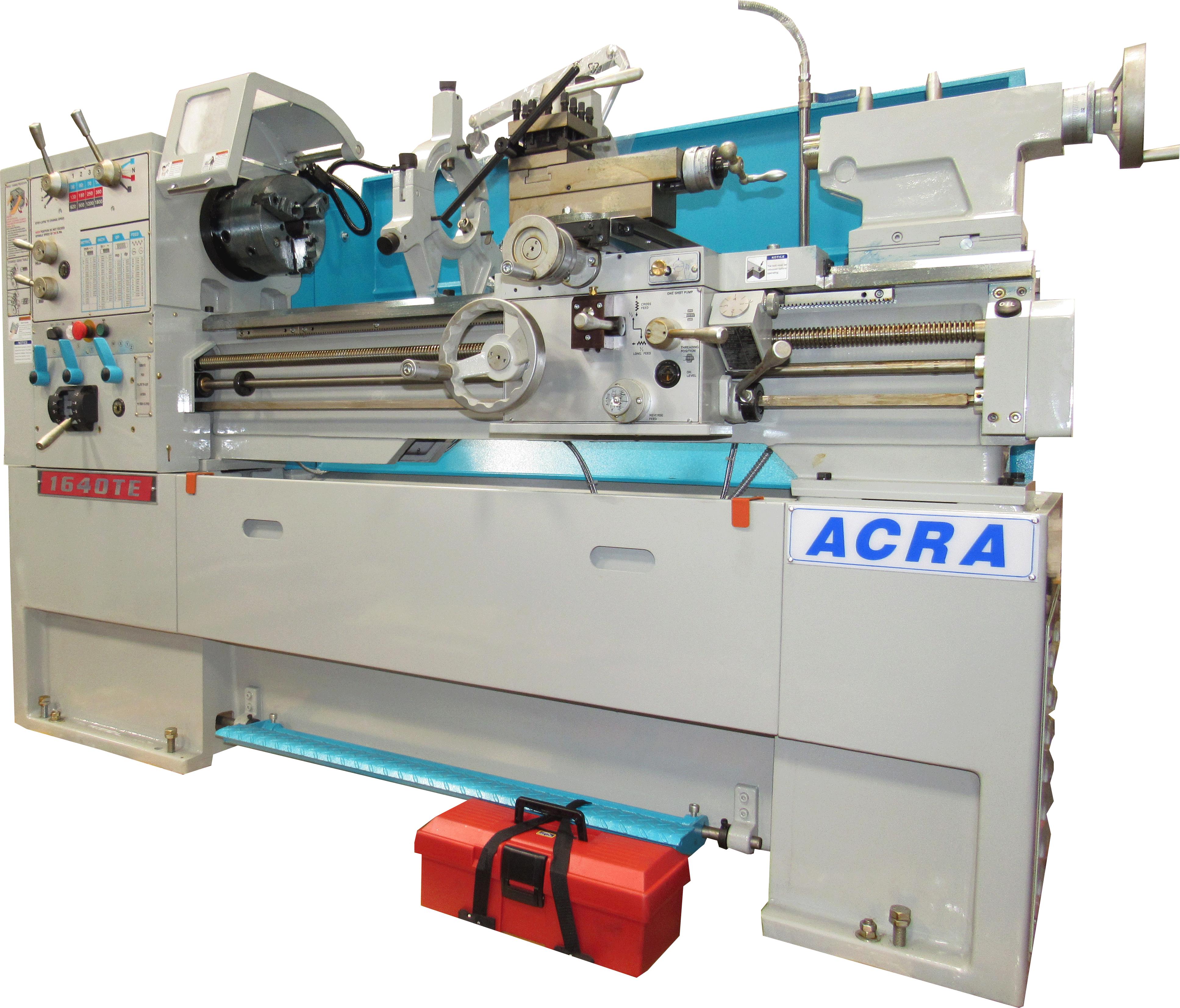 "16"" X 40"" ACRA MODEL 1640TE PRECISION GAP BED ENGINE LATHE (12 SPEED)"