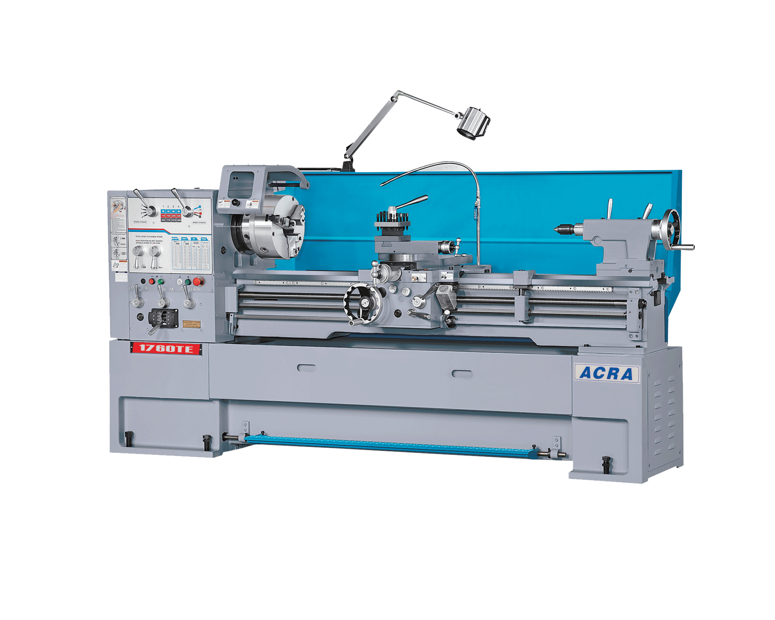 "17"" X 60"" ACRA MODEL 1760TE (3-1/8"" BORE) PRECISION HIGH SPEED GAP BED ENGINE LATHE"