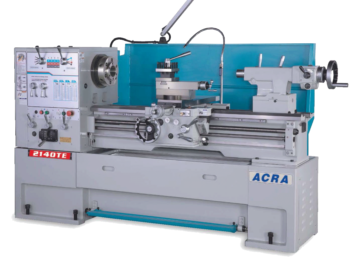 "21"" X 40"" ACRA MODEL 2140TE (2-1/2"" BORE) PRECISION HIGH SPEED GAP BED ENGINE LATHE"