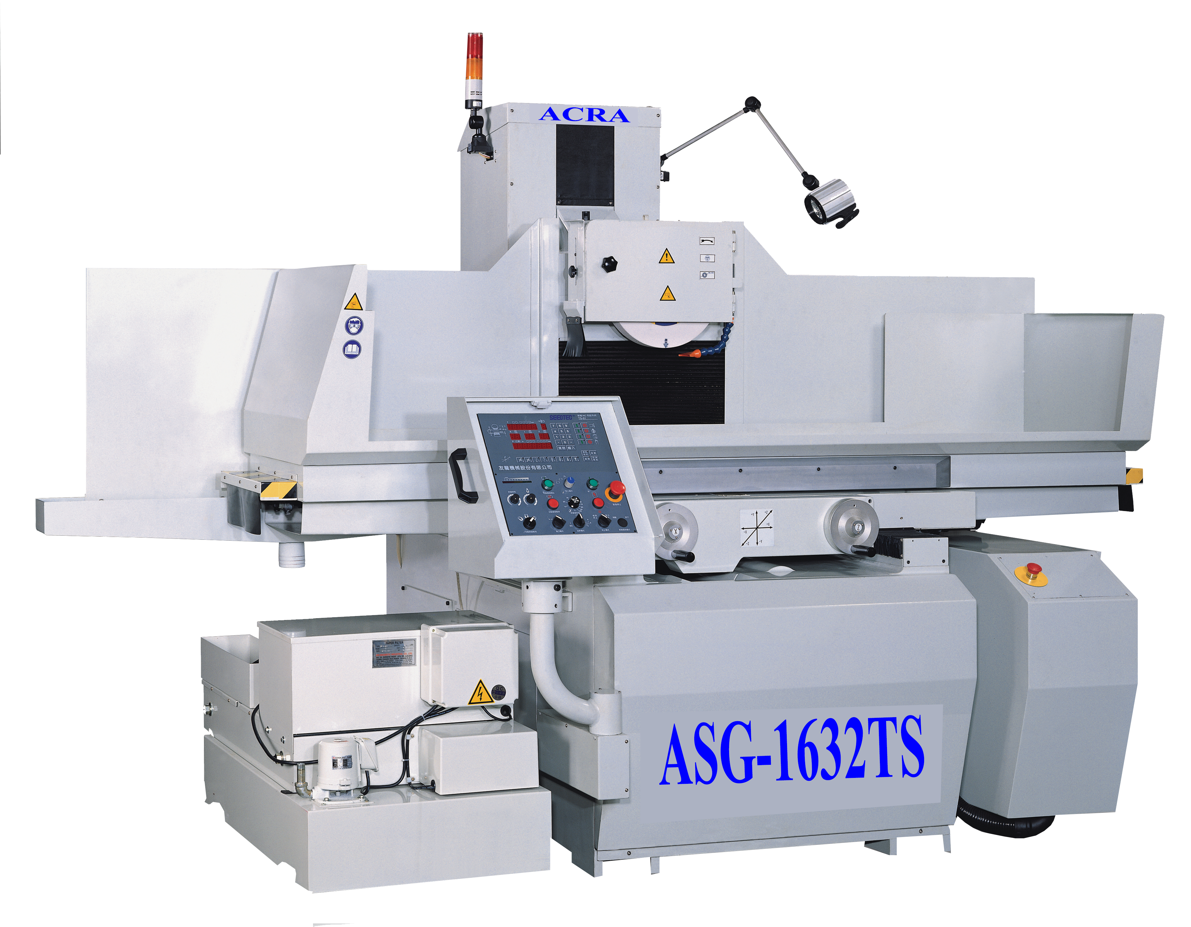 """16"""" X 32"""" ACRA MODEL ASG-1632TS NC CONTROLLED FULLY AUTOMATIC 3 AXIS PRECISION SURFACE GRINDER"""