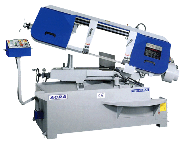 "12"" X 19"" ACRA MODEL BS330SSAV SEMI-AUTO VARIABLE SPEED MITERING HORIZONTAL BANDSAW WITH HYDRAULIC VISE"