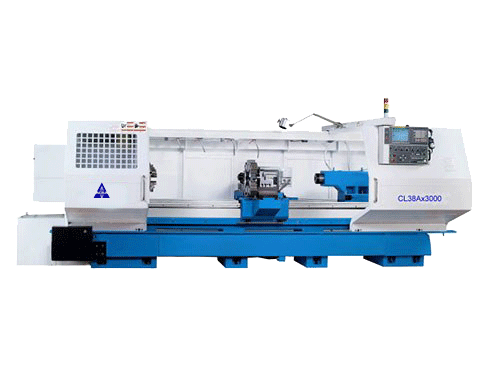 "26""X 120 ACRA MODEL CL-38A HOLLOW SPINDLE CNC FLAT BED LATHE WITH FANUC OITD CONTROLLER"