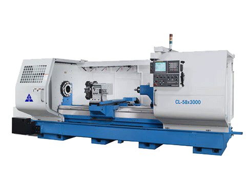 "35""X240"" ACRA MODEL CL-58B HOLLOW SPINDLE CNC FLAT BED LATHE WITH FANUC OITD CONTROLLER"