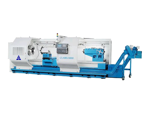 "45""X120"" ACRA MODEL CL-68B HOLLOW SPINDLE CNC FLAT BED LATHE WITH FANUC OITD CONTROLLER"