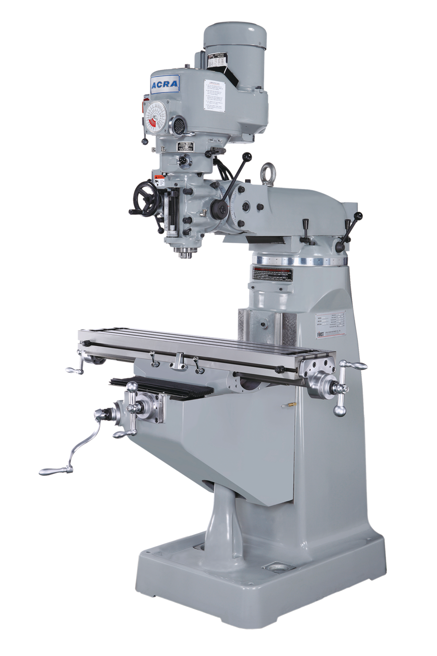 ACRA MODEL LCM50 VERTICAL STEP PULLEY MILLING MACHINE