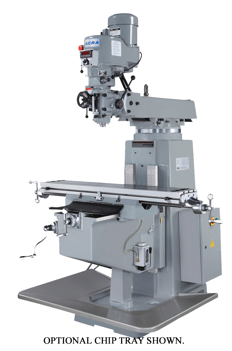 ACRA MODEL LCTM-1 VERTICAL VARIABLE SPEED MILLING MACHINE