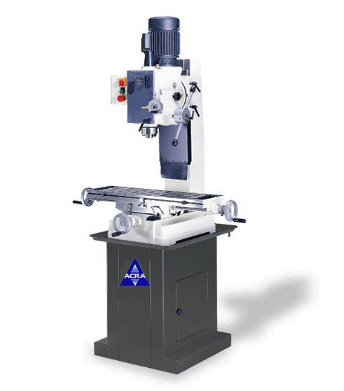 ACRA MODEL RF-45PF GEAR HEAD BENCH TYPE MANUAL MILLING/DRILLING MACHINE WITH POWER DOWN FEED