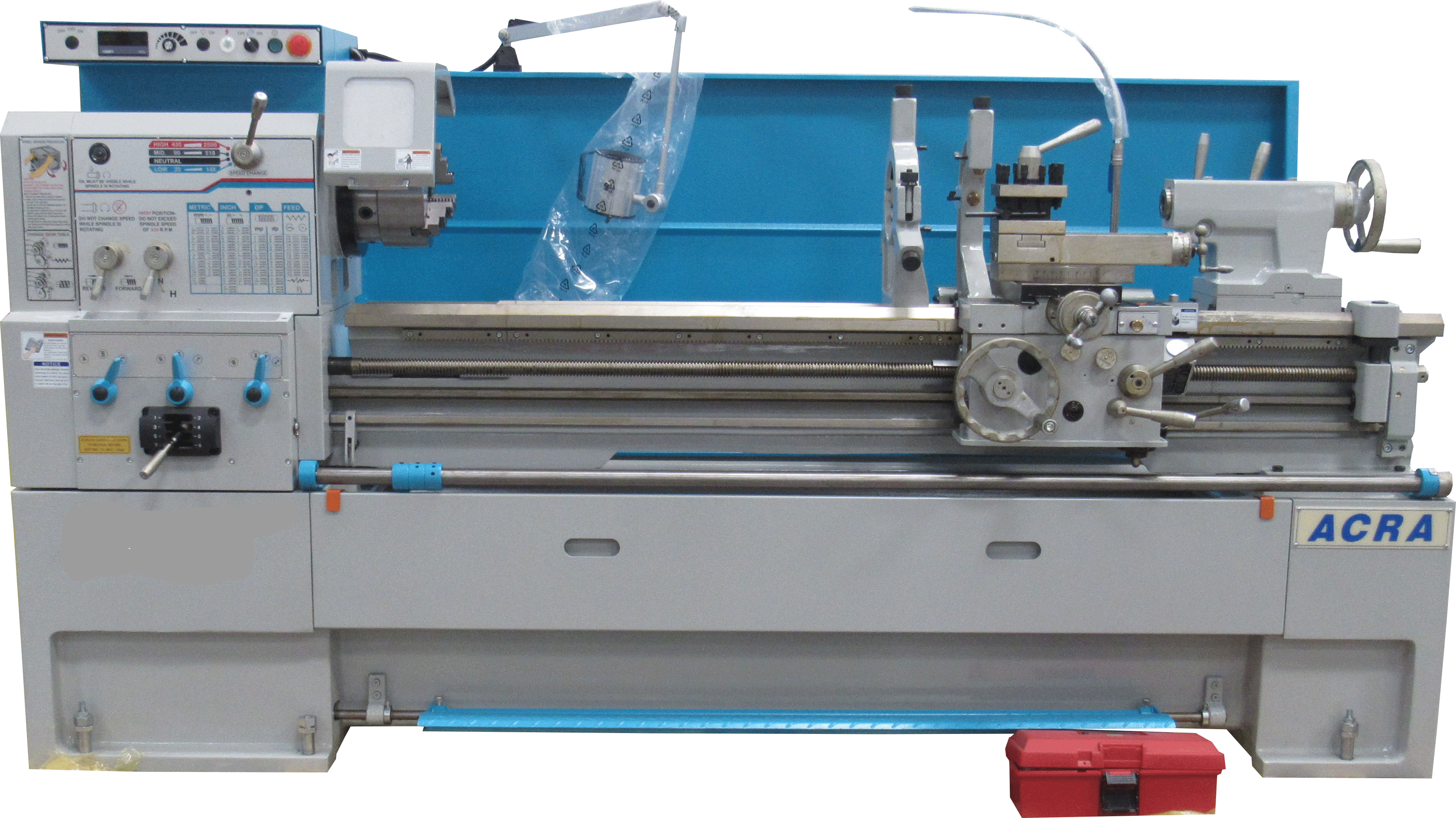 "32"" X 60"" ACRA MODEL CET3260 HOLLOW SPINDLE CNC FLAT BED LATHE WITH FANUC OITF CONTROLLER"