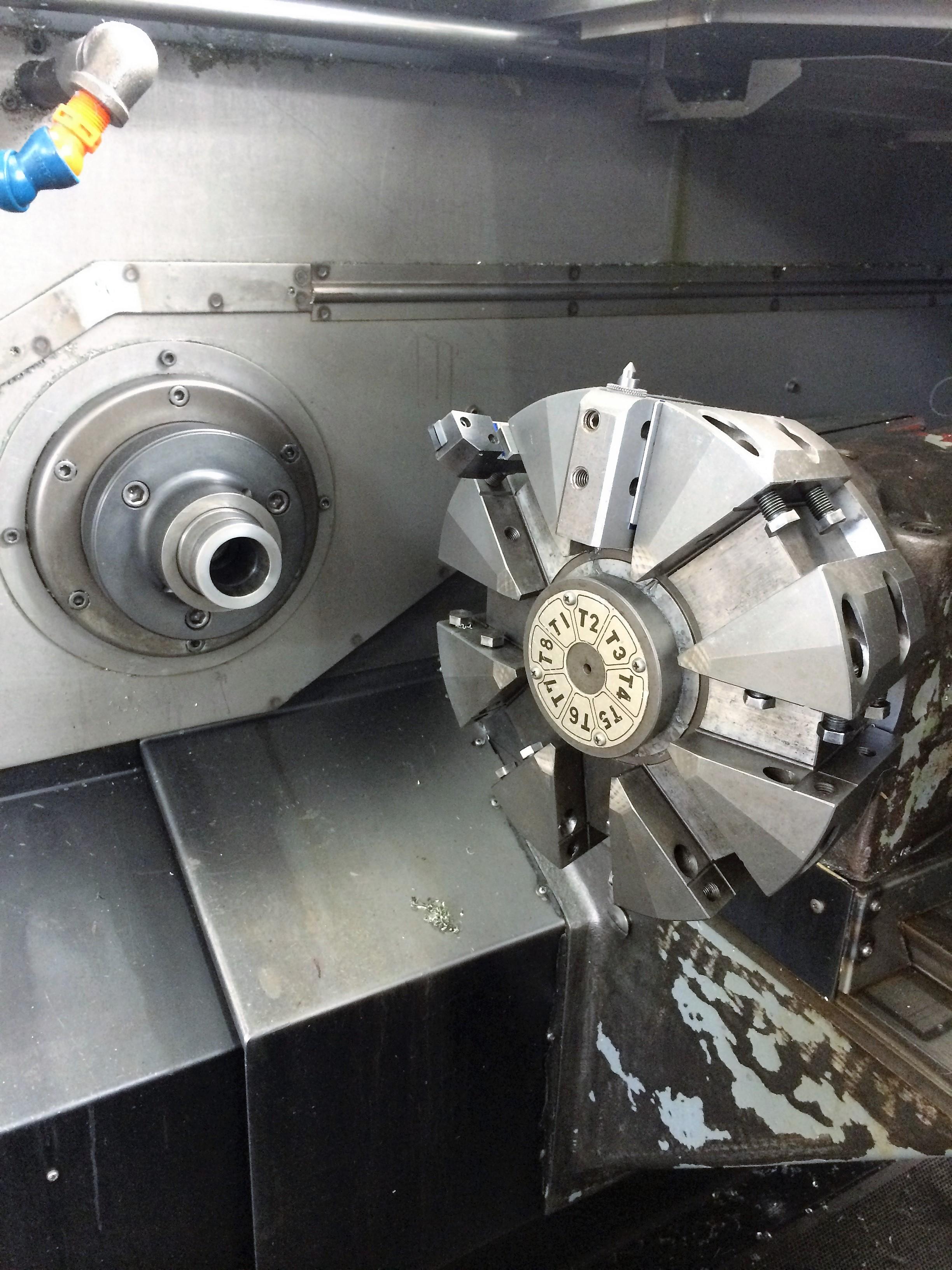 Okuma LC10 CNC Lathe with: 5C Collet Nose, Transformer, and Internal Coolant System.