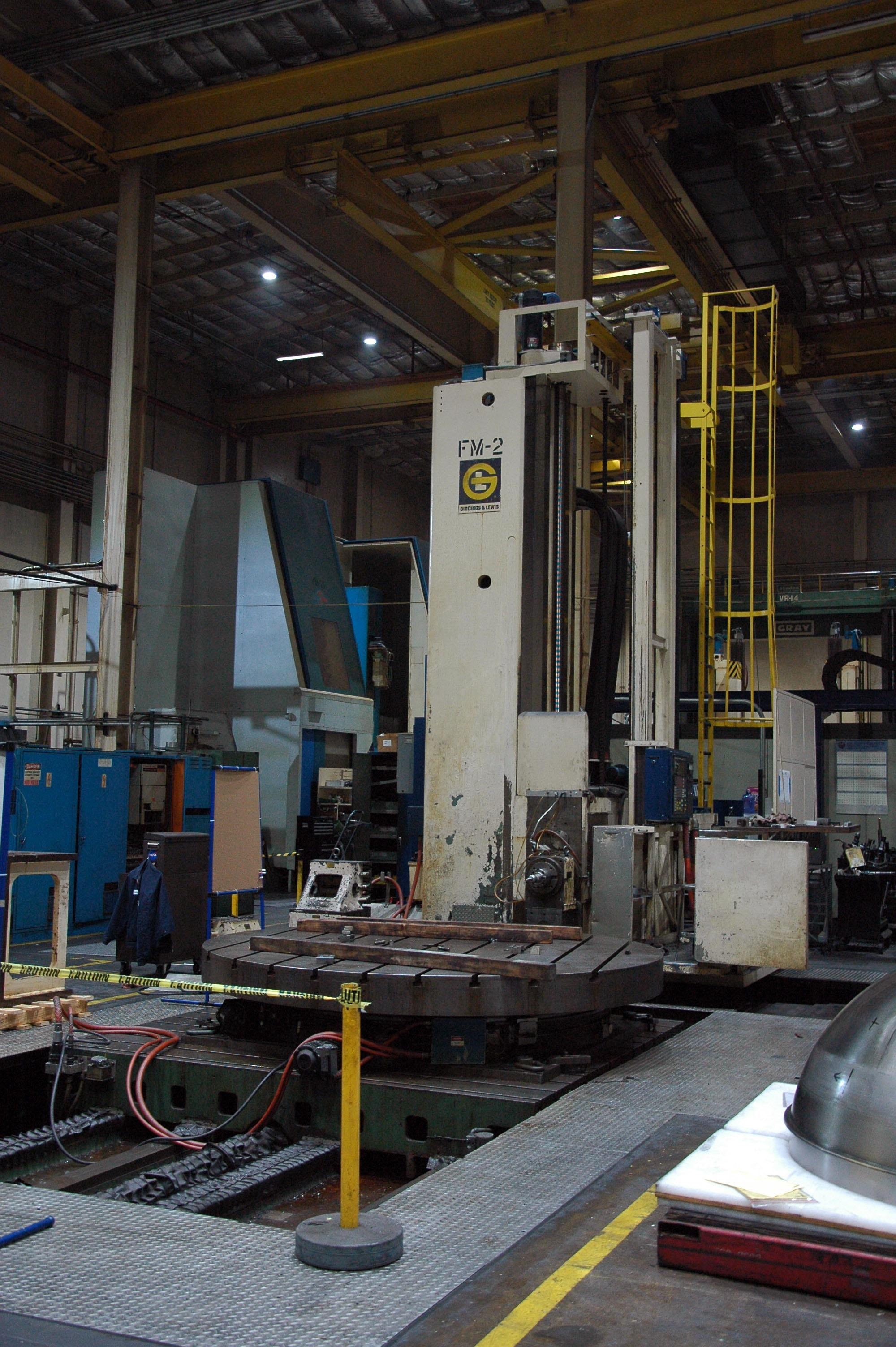 "Giddings & Lewis Dual Columm Model# 70-H6-UF 6"" CNC Floor Boring Mill"