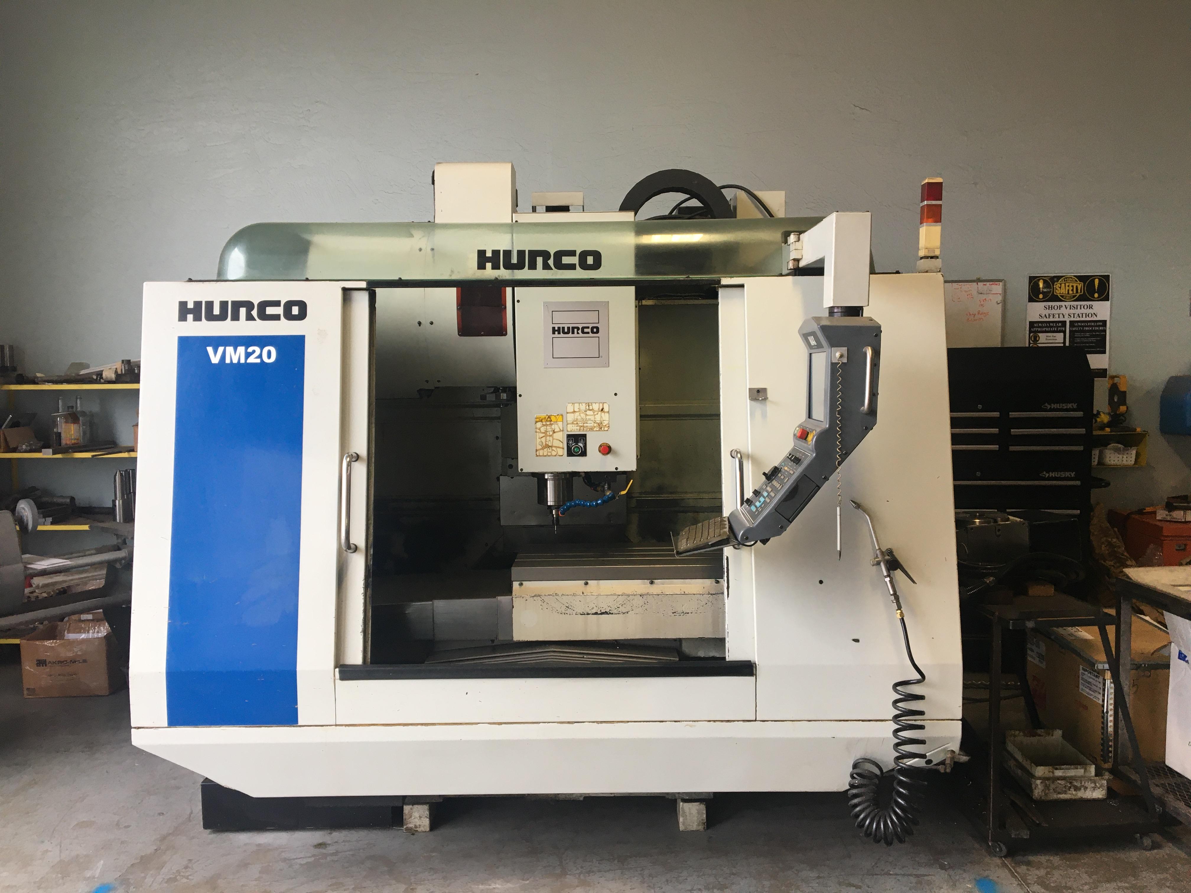 Hurco VM20 VMC 2008 Winmax 9 CNC Control 4th Axis Ready