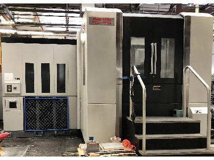 Mori Seiki NMH6300 DCG/50 5 Axis HMC 2008 with: Mori Seiki MSX-711III Cntl, 140-ATC, CAT50, Cooljet Chiller, and Chip Conveyor.
