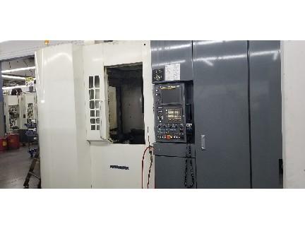 Kitamura Mycenter HX400iF HMC 2008 with: Dual APC, Fanuc 16iMB Control, 4th Axis, 90-Tools, Thru Spindle Coolant, RJH, and Chip Conveyor.