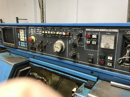 "Miyano BNC-34C CNC Lathe 1992, With: Fanuc OT CNC Control, 9"" Turning Length, 5k RPM, and  Bar Feeder."