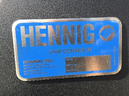 Hennig Chip Conveyor New Fits Lynx 220 CNC Lathe