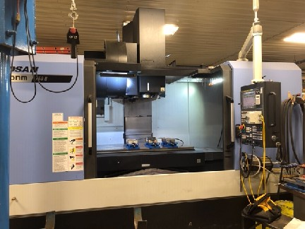 Doosan DNM750L-II VMC 2019 Fanuc Oi-M CNC Control 4th Axis Rotary Table Probe High Pressure Coolant Chip Conveyor