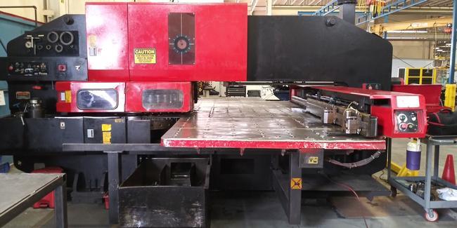 1995 Amada Pega358, 33 Ton, 4' x 8' Turret Punch