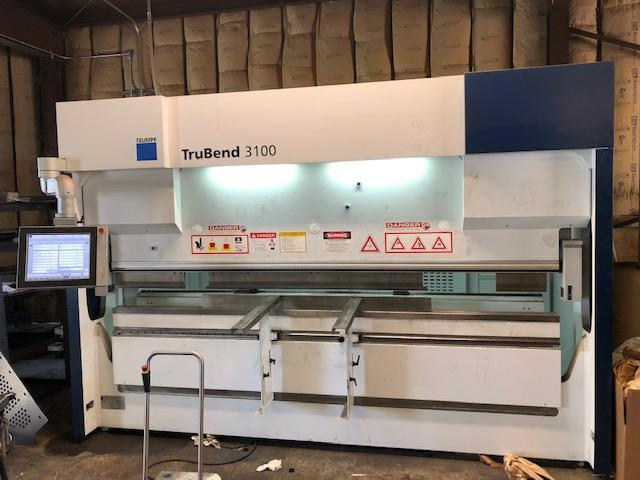 2015 Trumpf Trubend 3100 CNC Press Brake, 10' x 110 Ton, 4 Axis Back Gauges