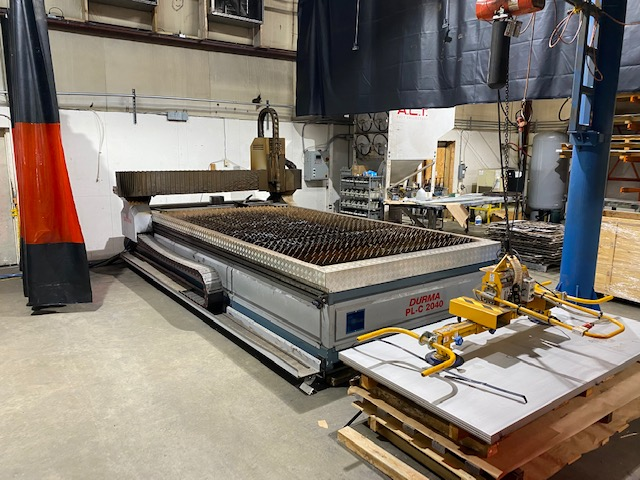 2015 Durma PLC2040, 6' x 13' Table, Hypertherm HPR260 XD Plasma