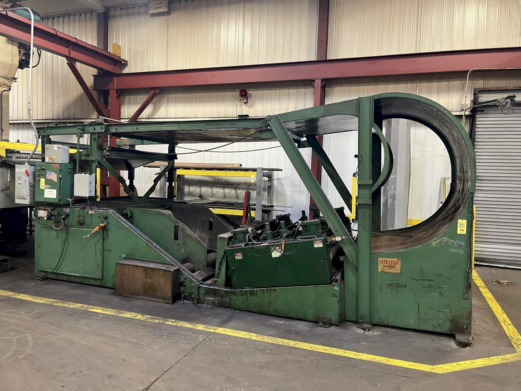 Feed Lease Coil Cradle Straightener Combination Uncoiler 20,000 Lbs.