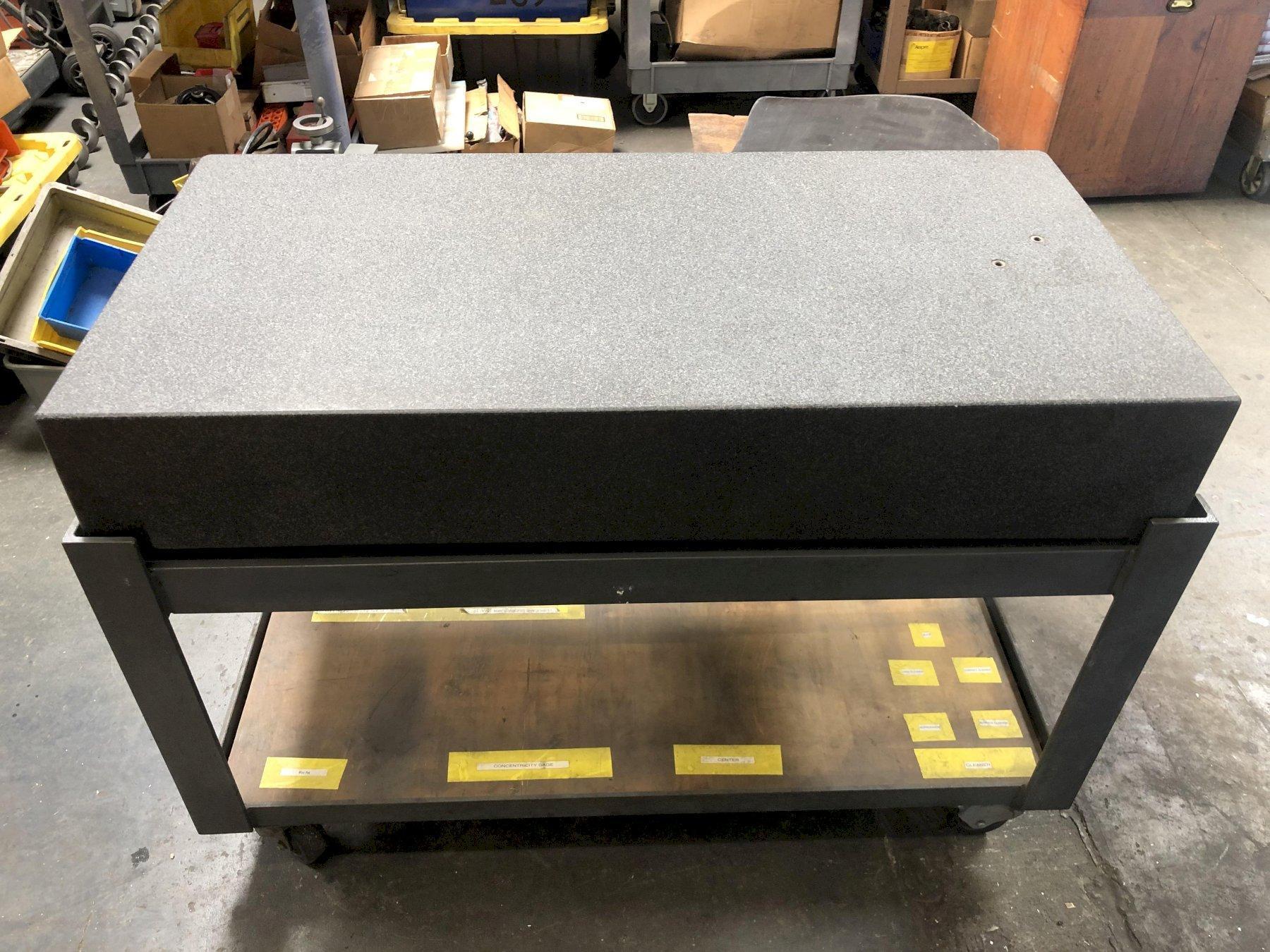 "Standridge Granite Surface Plate 47-5/8"" x 23-7/8"" x 7-5/8"" with: Stand, Grade B."