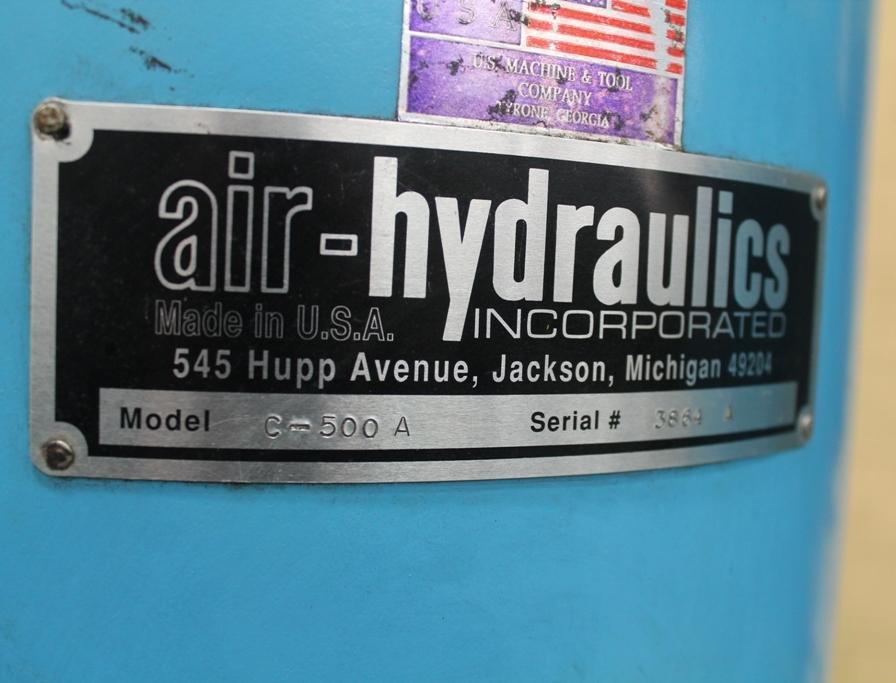 15 TON AIR HYDRAULICS C-FRAME PRESS: STOCK #63783